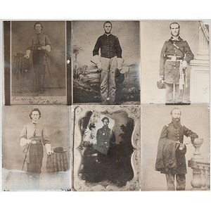 Civil War Glass Plate Positives of Union & Confederate Soldiers