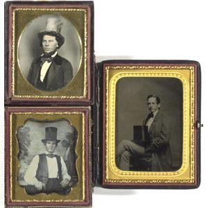Cased Images of Men in Top Hats,