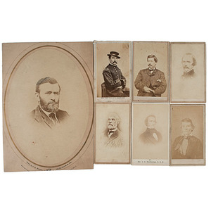 A Collection of Generals & Presidents with Rare Custer View