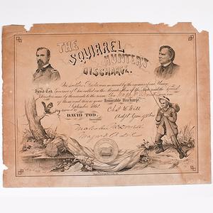 Civil War, Ohio Squirrel Hunter's Discharge