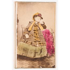 Civil War-Period CDV of a Young Woman Posed with Sword