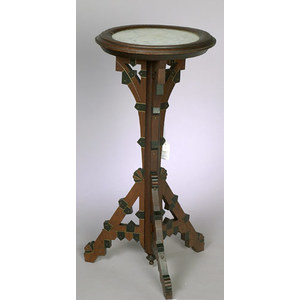 Victorian Marble Top Fern Stand,