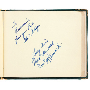 1930s Autograph Book with Three Stooges