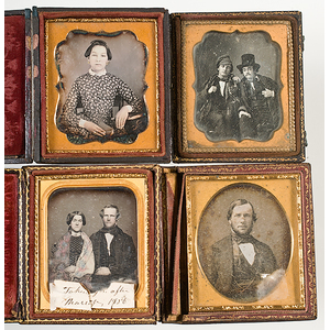 [Cased Images] Group of Daguerreotypes, Hand Colored Full Plate Tintypes, and More