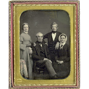Outstanding Half Plate Daguerreotype, Signed Whitney,