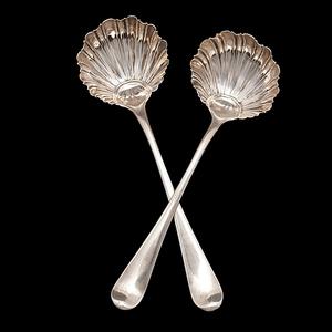 Pair of George III Sterling Condiment Ladles