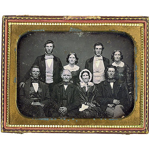 Half Plate Daguerreotype of a Distinguished Family,