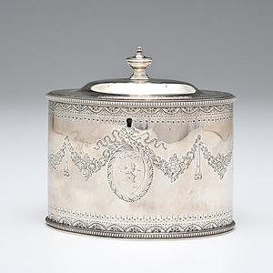 George III Sterling Tea Caddy