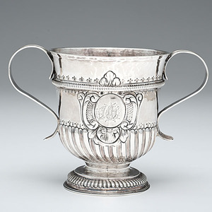 George I Sterling Two-Handled Cup