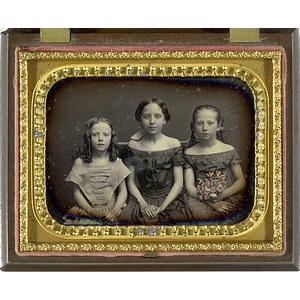 Quarter Plate Daguerreotype of Three Sisters,