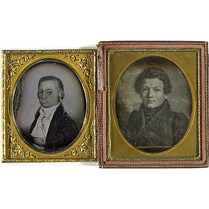 Two Sixth Plate Daguerreotypes of Paintings,