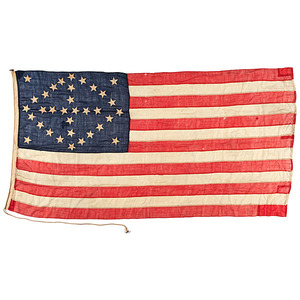 34-Star Naval Flag with Diamond-Shaped Star Configuration