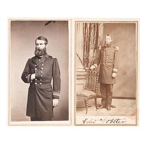 Commodore Edward E. Potter, Civil War-Period CDVs