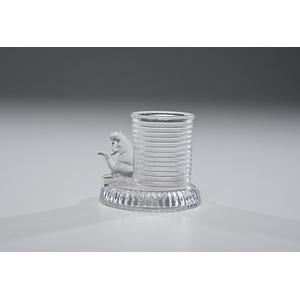 Rare McKinley & Hobart Glass Match Holder