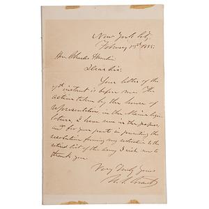 Ulysses S. Grant ALS to Charles Hamlin, 13 February 1885