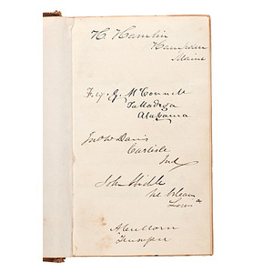 Hannibal Hamlin's Autograph Album