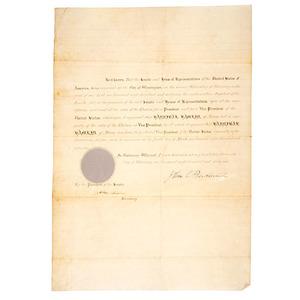 Hannibal Hamlin's Certification as Vice President