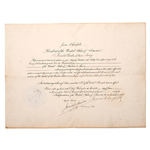 Hannibal Hamlin's Appointment to the Ambassadorship of Spain
