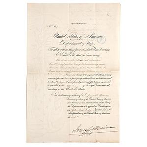 Hannibal Hamlin's Special Diplomatic Passport