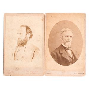 CSA President Jefferson Davis & General Stonewall Jackson Cabinet Cards