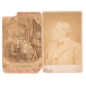 CSA General Robert E. Lee Cabinet Card, Plus Confederate Commanders Composite View