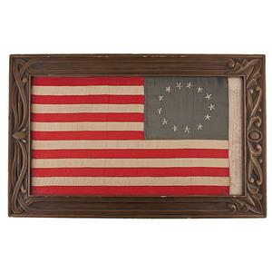 13 Star Flag made By Betsy Ross' Granddaughter