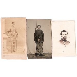 Civil War CDVs & Tintype of Soldiers, Two Armed