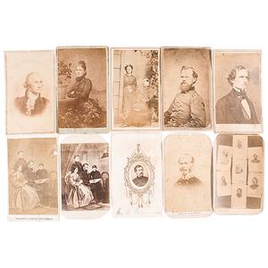 Confederate & Union Generals, Plus Politicians, Group of CDVs
