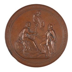 Uncommon George Meade Bronze Medal by Union League, 1866