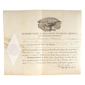 Supreme Court Document Recognizing Hannibal Hamlin, 2 February 1849