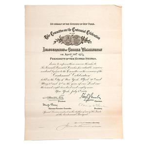 Hannibal Hamlin Commendation for Washington Centennial
