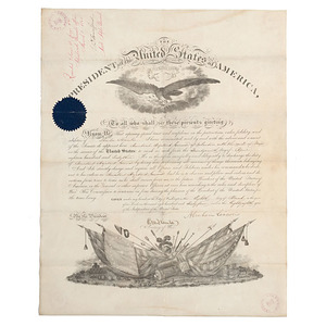 Charles Hamlin, Military Appointment Signed by Abraham Lincoln, 8 March 1864