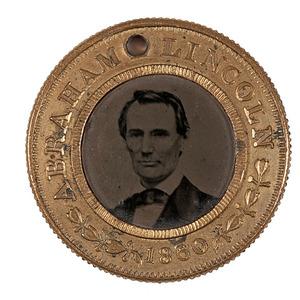 Jugate Lincoln & Hamlin 1860 Campaign Ferrotype