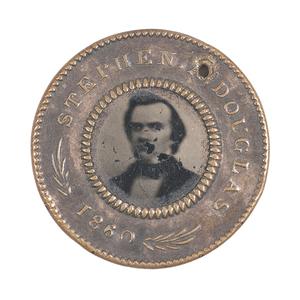 Jugate Douglas & Johnson 1860 Campaign Ferrotype