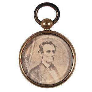 Jugate Lincoln & Hamlin Paper Photo Pendant / Fob