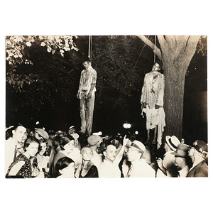 African American Double Lynching in Marion, Indiana, Silver Gelatin Photograph