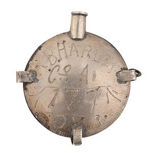 GAR Sweetheart Canteen Pendant Identified to R.B. Harley, 177th O.V.I.