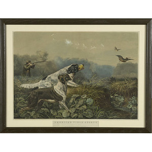 Currier and Ives Hunting Lithograph,