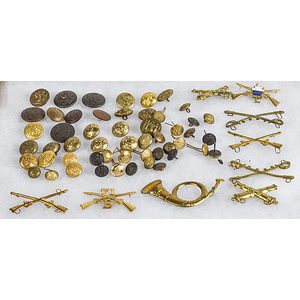 Brass Buttons and Insignia, Large Lot