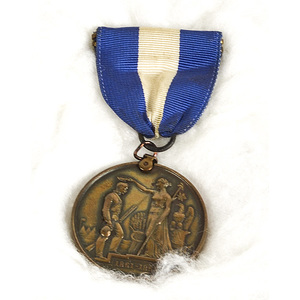 49th Ohio Civil War Service Medal by Tiffany, Identified to Jesse S. Dicken