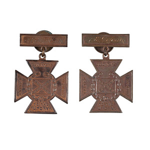 UCV Southern Crosses of Honor Identified to A.E. Johnson, North Carolina 12th Bttn. Cavalry and 4th Cavalry