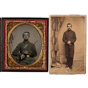 Private John A. Shepherd, New York 10th Cavalry, Civil War Tintype & CDV, Plus Pension Correspondence