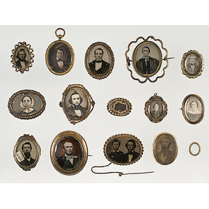 Group of Daguerreian and Ambrotype Jewelry