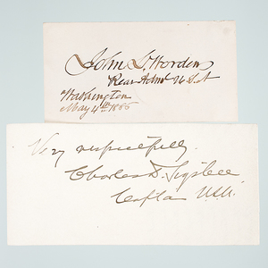 John L. Worden and Charles Sigsbee, Clipped Signatures