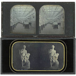 Two Stereo Daguerreotypes of Statuary,