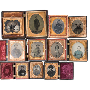 Group of Civil War Cased Images