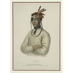 McKenney & Hall Lithograph: Caa-Tou-See, An Ojibway,