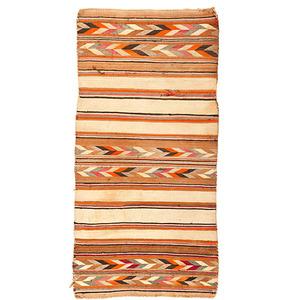 Navajo Banded Double Saddle Blanket