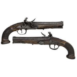 Pair of Belgian Flintlock Pistols