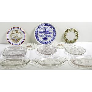 Span-Am Historic Dewey Plates, Lot of Twelve